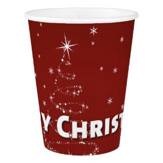 Gobelets En Papier Flocons de neige d'arbre de Noël