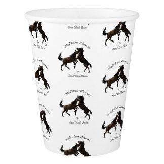 Gobelets En Papier Guerriers de cheval sauvage pour le lavabo de