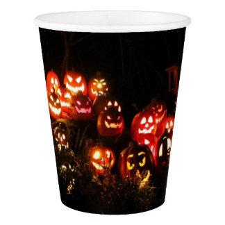 Gobelets En Papier Halloween Jack-o'-lantern recueillant la tasse de