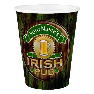 Gobelets En Papier Jour de la Saint Patrick irlandais de signe de Pub