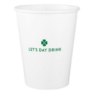 Gobelets En Papier Le jour de St Patrick nous a laissés la tasse de