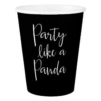 Gobelets En Papier Le panda aiment les tasses de papier d'un panda