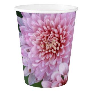 Gobelets En Papier Le rose doux magnifique fleurit la tasse de papier