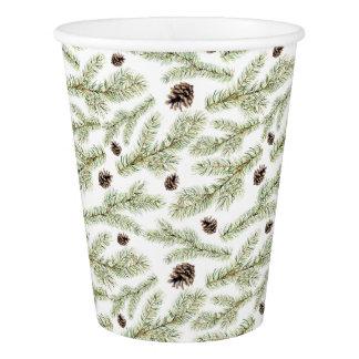 Gobelets En Papier Motif classique de Noël | Pinecone