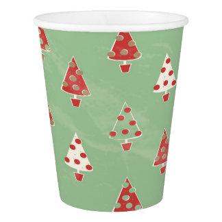 Gobelets En Papier Motif d'arbre de Noël