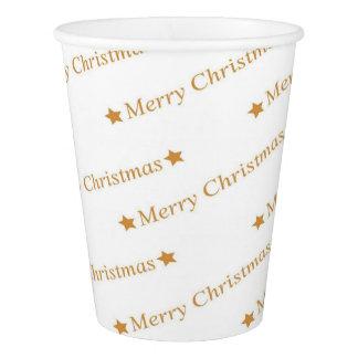 Gobelets En Papier Motif de Joyeux Noël de typographie de Noël