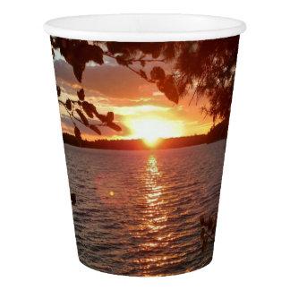 Gobelets En Papier Tasse de coucher du soleil
