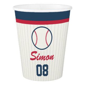 Gobelets En Papier Tasse de papier d'anniversaire de base-ball
