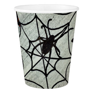 Gobelets En Papier Tasse de papier de battes et d'araignées