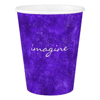 Gobelets En Papier Tasse de papier de galaxie ultra-violette