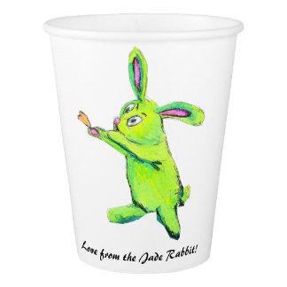 Gobelets En Papier Tasse de papier de lapin de jade