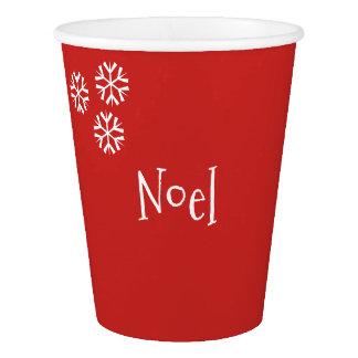 Gobelets En Papier Tasse de papier de Noël personnalisable de Noel