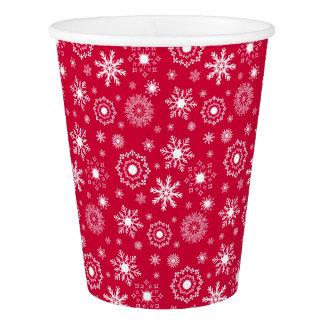 Gobelets En Papier Tasse de papier de vacances de Noël d'ornement de