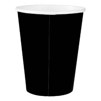 Gobelets En Papier Tasse de papier : Noir simple