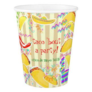Gobelets En Papier Tasse de partie de taco - personnalisable