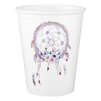 Gobelets En Papier Tasse nuptiale de douche de Boho Dreamcatcher
