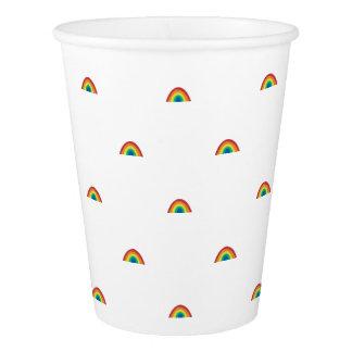 Gobelets En Papier Tasses de papier d'arc-en-ciel