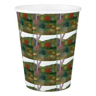 Gobelets En Papier Tasses de papier d'automne vibrant