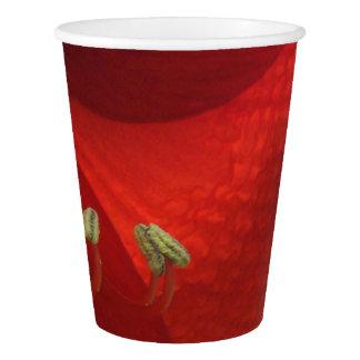 Gobelets En Papier Tasses de papier de fête de Noël rouge d'amaryllis