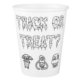 Gobelets En Papier Tasses de papier de Halloween