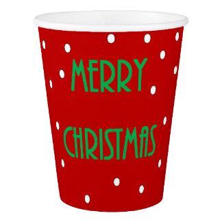 Gobelets En Papier Tasses de papier de Joyeux Noël