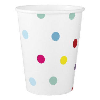 Gobelets En Papier Tasses de papier de motif de polka