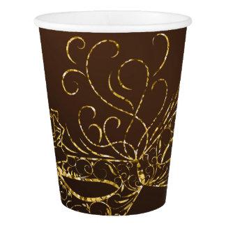 Gobelets En Papier Tasses de papier de partie de mascarade