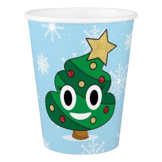 Gobelets En Papier Tasses de papier d'Emoji de dunette d'arbre de