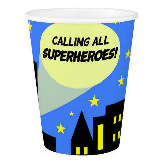 Gobelets En Papier Tasses de partie pour le superhéros de