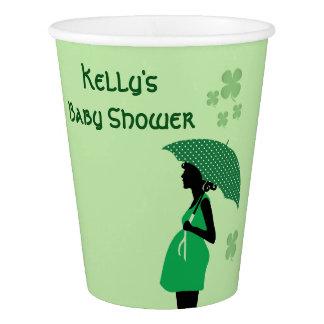 Gobelets En Papier Tasses irlandaises de bosse de bébé de thème