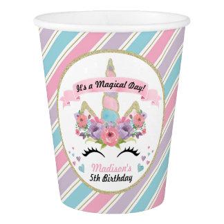 Gobelets En Papier Tasses magiques de fête d'anniversaire de licorne
