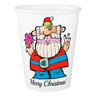 Gobelets En Papier Une tasse de papier de Père Noël de grand, géant,