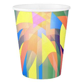 Gobelets En Papier verre de papier abstrait