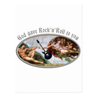 God jupe gave and petit pain tonne you carte postale