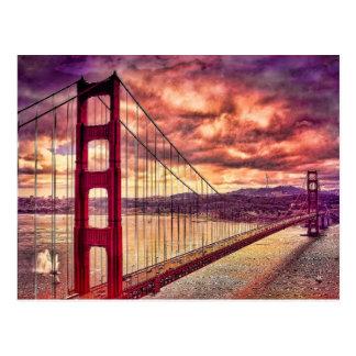 Golden gate bridge à San Francisco, la Californie Carte Postale