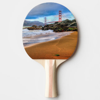 Golden gate bridge au coucher du soleil raquette de ping pong