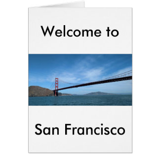 Golden gate bridge carte de vœux
