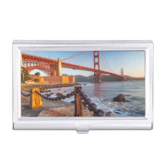 Golden gate bridge de point de fort boîtiers pour cartes de visite
