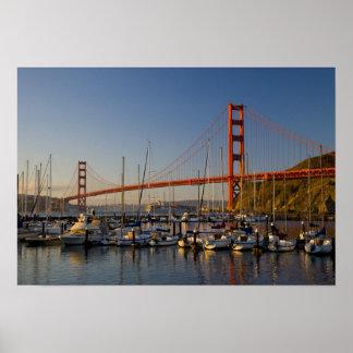 Golden gate bridge et San Francisco 2 Posters