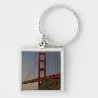 Golden gate bridge et San Francisco Porte-clé Carré Argenté
