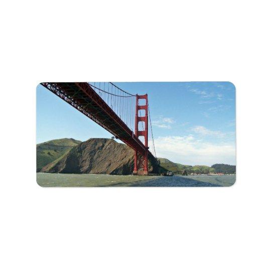 Golden gate bridge étiquette d'adresse