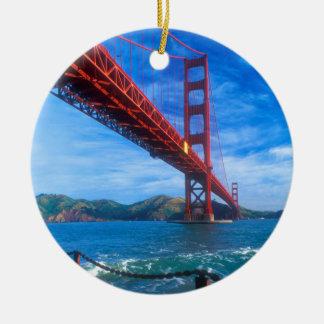 Golden gate bridge, la Californie Ornement Rond En Céramique