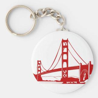 Golden gate bridge - San Francisco, CA Porte-clé Rond