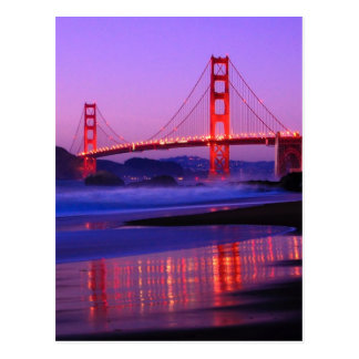 Golden gate bridge sur la plage de Baker au Cartes Postales