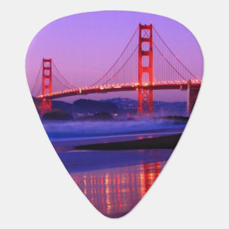Golden gate bridge sur la plage de Baker au Onglet De Guitare