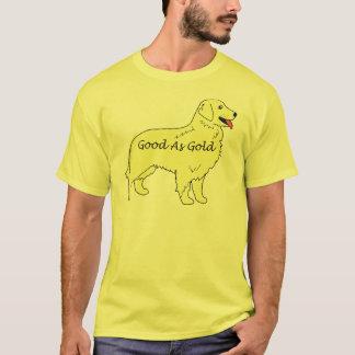 Golden retriever bon comme T-shirt d'or