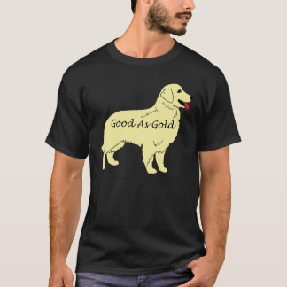 Golden retriever bon comme T-shirt d'or
