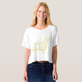 Golden retriever Boxy de T-shirt de dessus de la