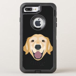 Golden retriever d'illustration coque otterbox defender pour iPhone 7 plus