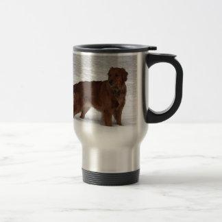 Golden retriever mug de voyage